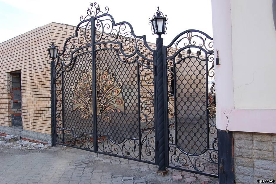 Кованые ворота своими руками фото